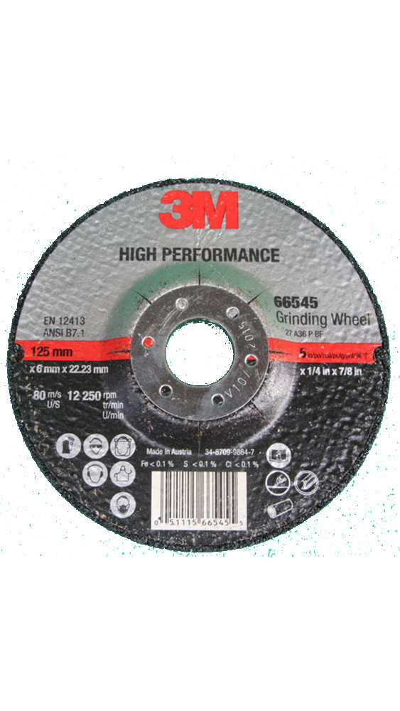 Disco de Desbaste 3M™ High Performace DCGW T27